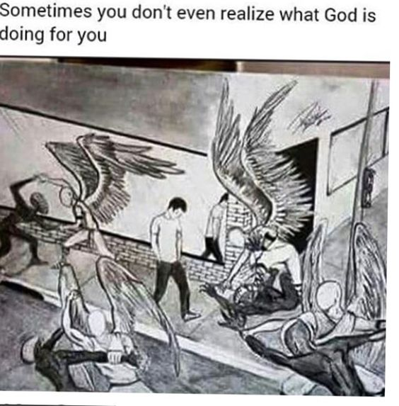 """""""That is so cool because I always imagined angels around me fighting demons off. Then I saw this. So cool, I love it."""""""