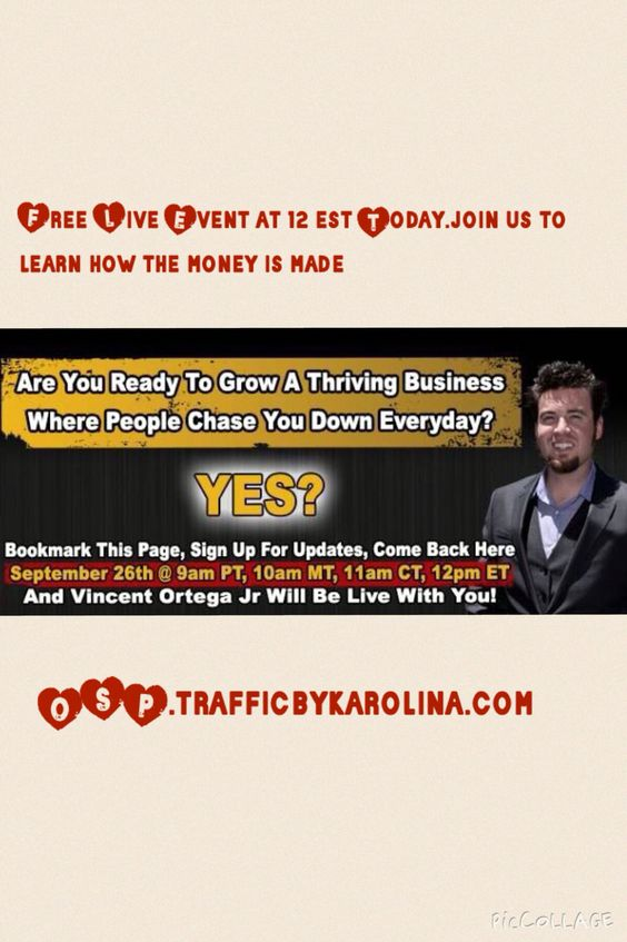 LIVE TODAY @12pm EST  Are you ready to Grow a Thriving Business Where People Chase You Down With Credit Card in Hand Everyday? Http://osp.trafficbykarolina.com     #money #cash #green #dough #bills #crisp #benjamin #benjamins #franklin #franklins #bank #payday #hundreds #twentys #fives #ones #100s #20s #greens #photooftheday #instarich #instagood #capital #stacks #stack #bread #paid