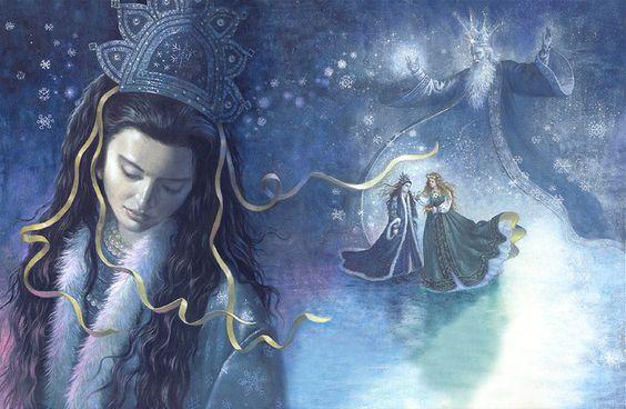 """Ruth Sanderson «The Snow Princess»   """"Картинки и разговоры""""  Ruth Sanderson «The Snow Princess»   """"Картинки и разговоры"""" Автор и иллюстратор Ruth Sanderson Страна США Русский фольклор Сказка «Снегурочка» Год издания 2004"""