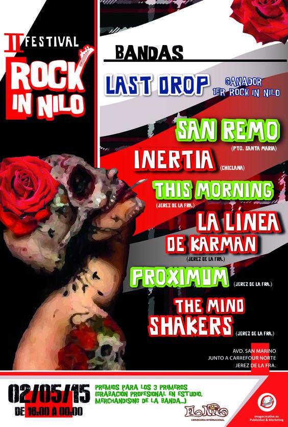 Ya tenemos listo el diseño para la II edición del Festival Rock in Nilo!