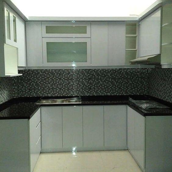 model kitchen set aluminium terbaru 2021 - (pinterest)