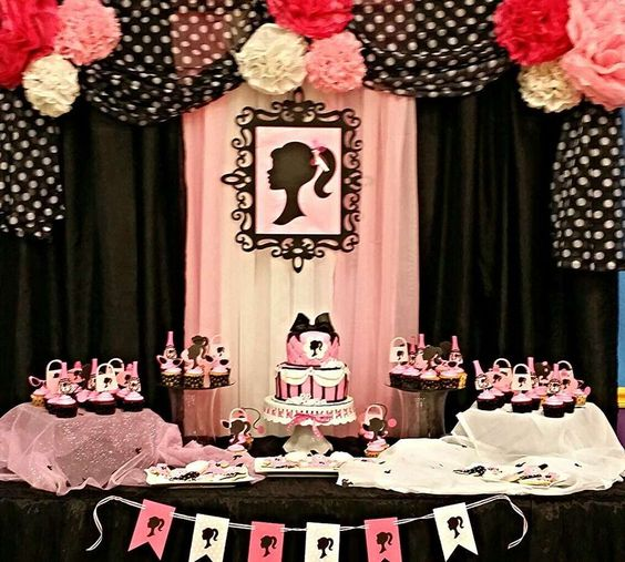 Duel Birthday Decor Zebra Barbie And Princess Themes: Birthdays, Birthday Party Ideas And Barbie Party On Pinterest