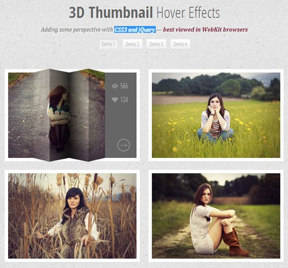 Cool 3D Thumbnail Hover Effects with CSS3 and jQuery