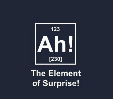 Element of Surprise!