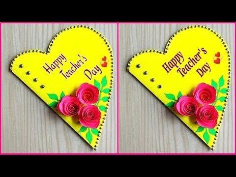 Beautiful Handmade Teacher S Day Card Idea Diy Teacher S Day Greeting Card Making Yout Cards Handmade Handmade Cards For Friends Teachers Day Greeting Card
