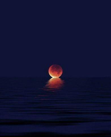 red moon blue sea - photo #48