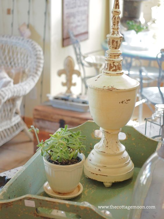 Cottage style, with a beautiful succulent