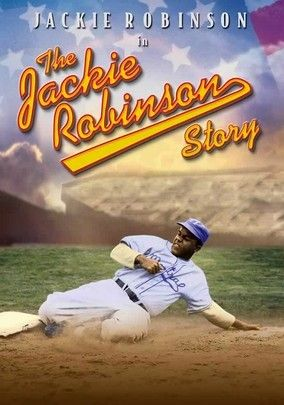 """The Jackie Robinson Story"" (dir. Alfred E. Green, 1950) --- This 1950 biographical movie tackles the racial issues that elevated and threatened Jackie Robinson, the first baseball player to break the color barrier. The Hall Of Fame Dodger plays himself with dignity (holding his own against Ruby Dee as his wife). Until director Spike Lee realizes his dream of dramatizing Robinson's life, this film quietly does some heavy lifting in the consciousness-raising department."