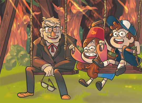 Family | Grunkle Stan, Mabel & Dipper | Gravity Falls