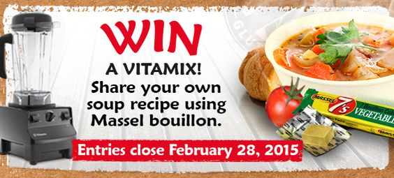 Who want to win a #Vitamix? hare your own original soup recipe using @Masselbouillon http://massel.com/win/