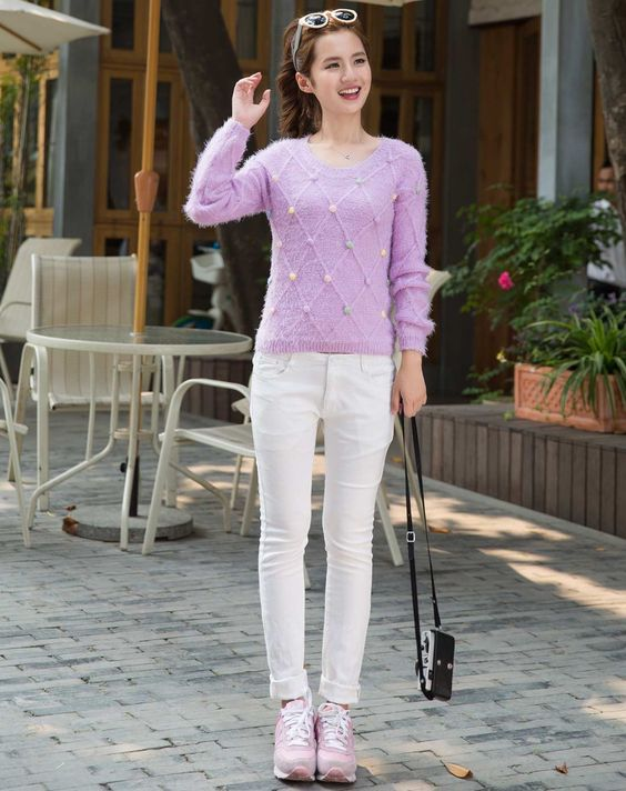 衣品天成EPTISON女款紫色毛衣4WE020Z_唯品会