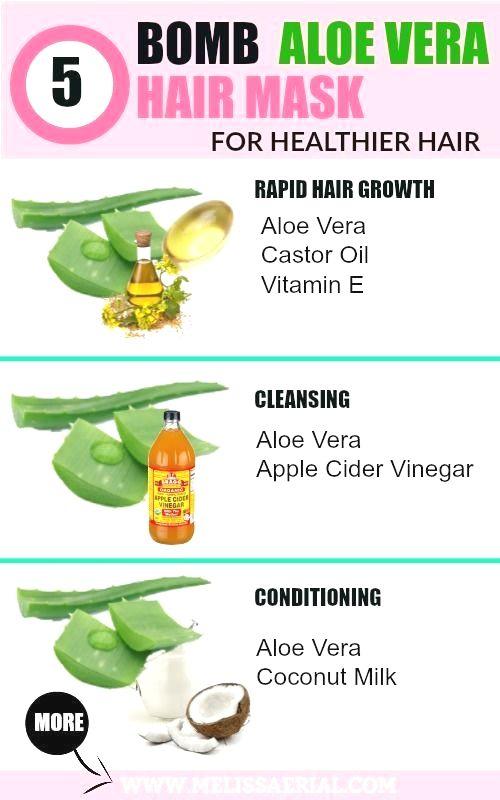 Aloe Vera Gel And Castor Oil Hair Mask