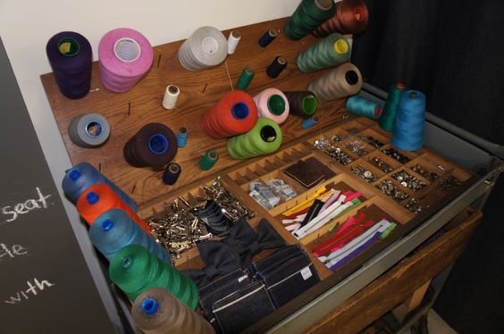 all the add-ons for your custom jeans- buttons, zippers, thread