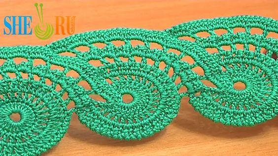 Lace Crochet Free Pattern Video Tutorial http://www.pinterest.com/cmmeanea/crochet/