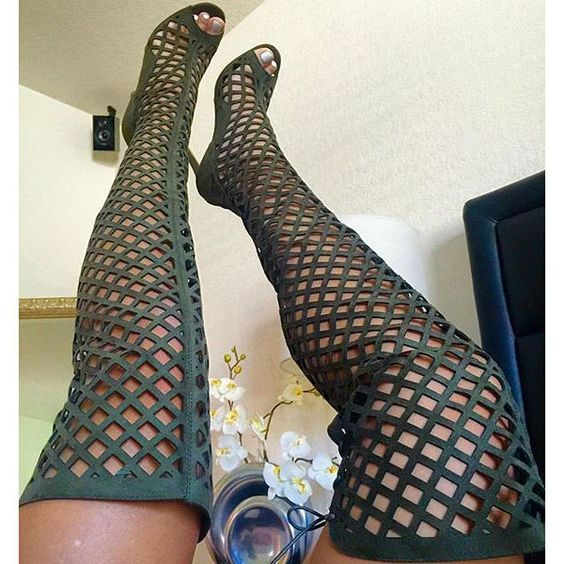 Gladiator Thigh High Stiletto Boots