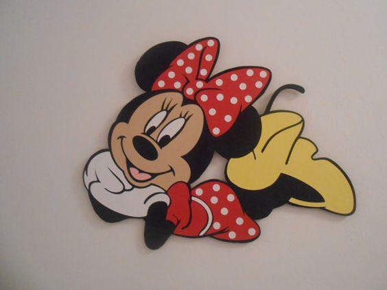 Minnie Mouse wood wall decor by MyCottageByTheSea on Etsy
