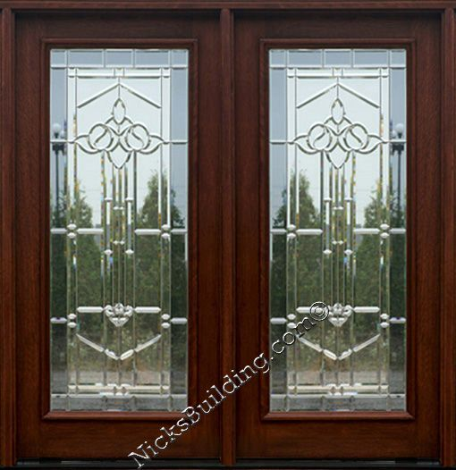 Double door door with glass french door patio door for Elegant front doors