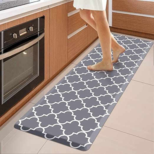 Wiselife Kitchen Mat Cushioned Anti Fatigue Kitchen Rug 17 3 Quot X 60 Quot Non Slip Waterproof Kitchen Mats And R Comfort Mats Kitchen Mat Kitchen Mats Floor Best anti fatigue kitchen mat