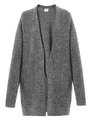 Raya Short mohair-blend cardigan | Acne Studios | @andwhatelse
