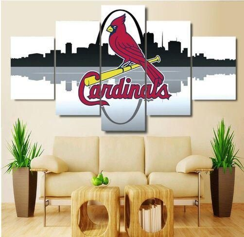 5 Panel St Louis Cardinals Wall Art Cheap For Living Room Wall Decor Wall Decor Living Room Cheap Wall Art Wall Decor