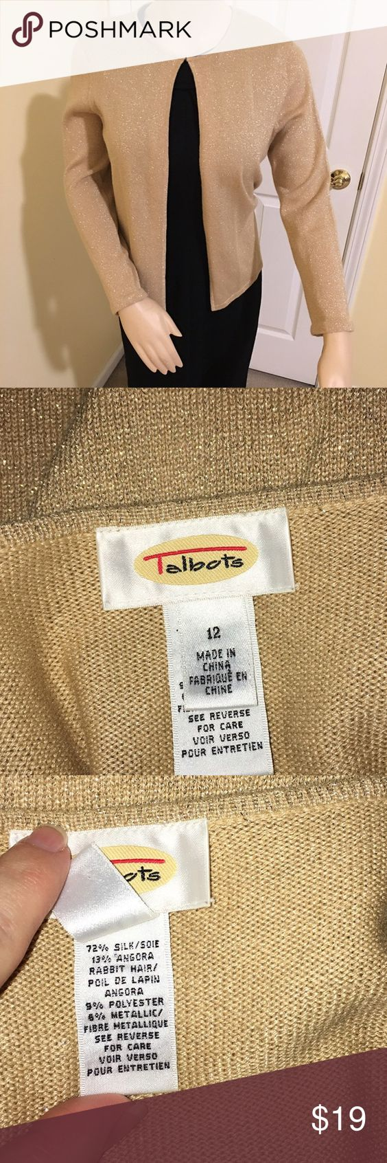 Talbots Gold shimmer cardigan | D, Sweater cardigan and Cardigans