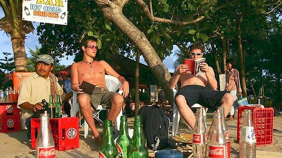 Beer and sunshine ... is that all Australian backpackers are looking for?