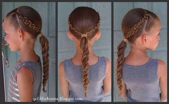 Braided Hairstyle so cute for a little girl