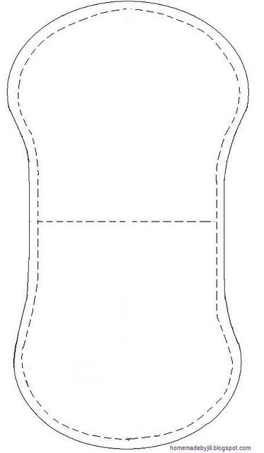 burp cloth pattern/tutorial. Can't lie. I thought it was a maxi pad