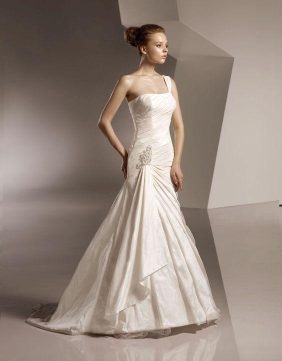 Sirène de mariage robe en taffetas - Robes de Mariage Boutique