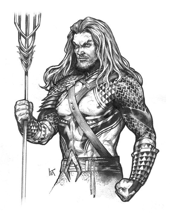 aquaman coloring pages # 36