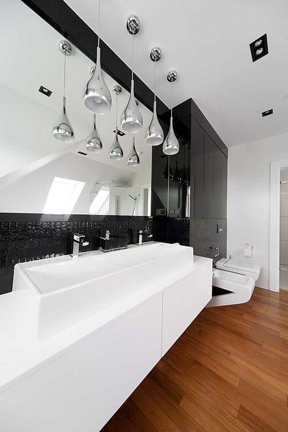 Decoration contemporaine noir et blanc avec couleur 22