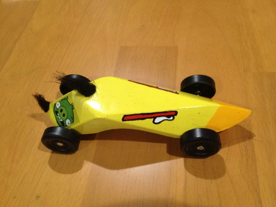 Angry Birds Pine Wood Derby Car