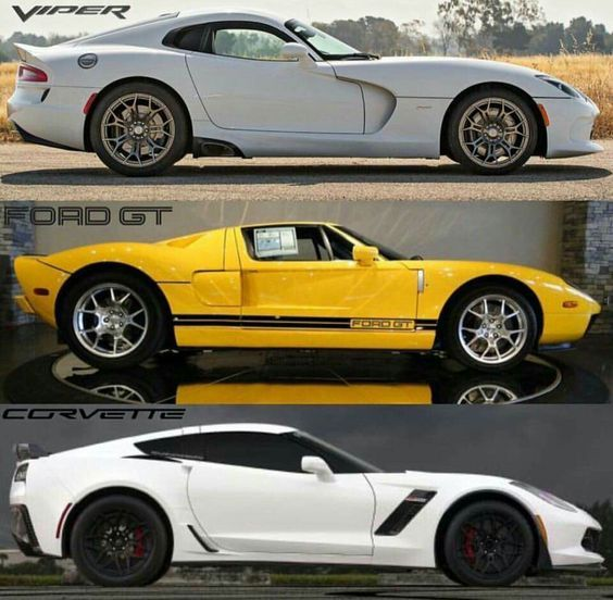 Viper Ford Gt Corvette Vote Which One Would You Drive With