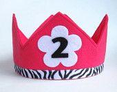 Second Birthday Felt Crown