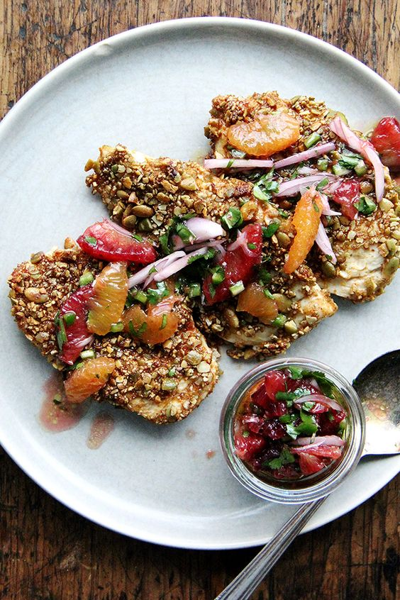 Pepita-Crusted Chicken Cutlets - Alexandra's Kitchen