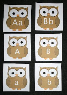 Classroom Freebies: Owl-Themed Upper and Lowercase Alphabet Cards