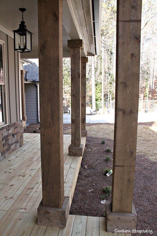 rustic columns | Southern Hospitality blog