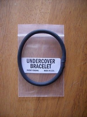 "$9.99 Undercover Bracelet: A useful tool for covert and undercover operators, those that travel abroad in unstable countries, or anyone at risk of being held unlawfully.  A leading federal law enforcement agency asked for a special emergency handcuff key for their undercover operatives.   The Undercover Bracelet is the result.   Disguised as a common ""gummy bracelet"", this rubbery flexible bracelet won't draw even a second glance when worn in most environments."