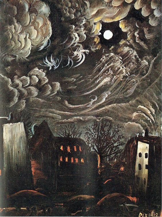 "poboh: "" Night over the city, 1913, Otto Dix. German Expressionist Painter (1891 - 1969) """