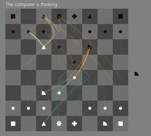 """Jugando al ajedrez con una máquina viendo lo que está """"pensando"""" en cada momento"""