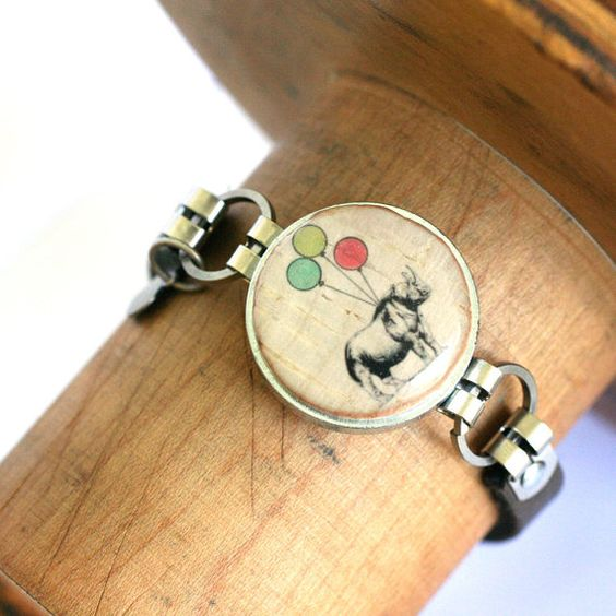 Rhino Jewelry  Rhino Bracelet Wine Cork Bracelet. by uncorked