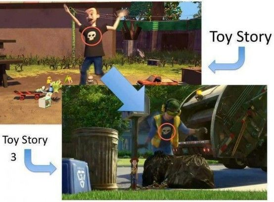 Classic! Leave it to Pixar to sneak Sid into a Cameo role.