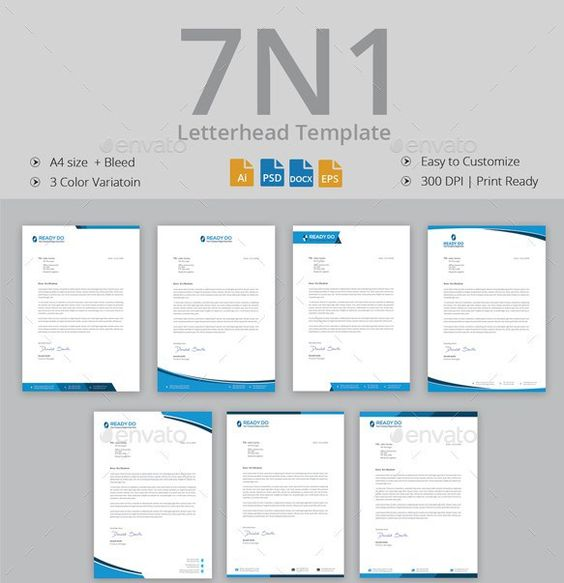 Professional Letterhead Template  Letterhead