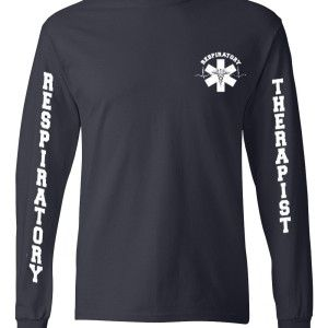 RT unisex long sleeve shirt navy front