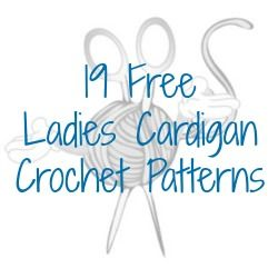 19 FREE Ladies Cardigan Crochet Patterns