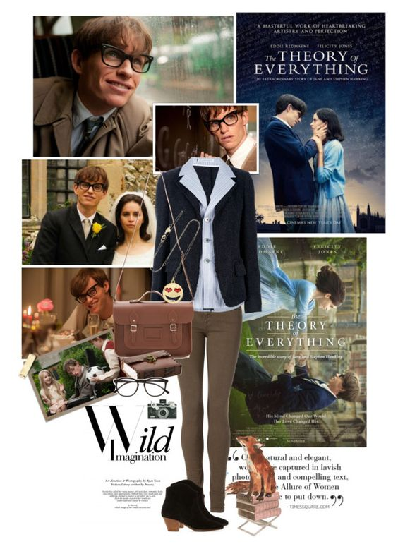 """""""Film Review: The Theory of Everything"""" by bittersweet89 ❤ liked on Polyvore featuring Assouline Publishing, Tommy Hilfiger, Y-3, The Cambridge Satchel Company, Isabel Marant, Alison Lou and Illesteva"""