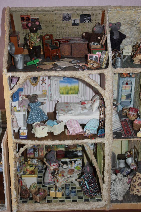 Küche, Schlafzimmer und Musikzimmer im Mäusehaus