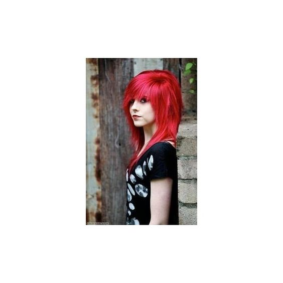 40 Cute Emo Hairstyles What Exactly Do They Mean? ❤ liked on Polyvore featuring accessories and hair