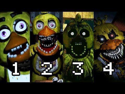 Todos Los Jumpscares Fnaf 1 4 Five Nights At Freddy S 4