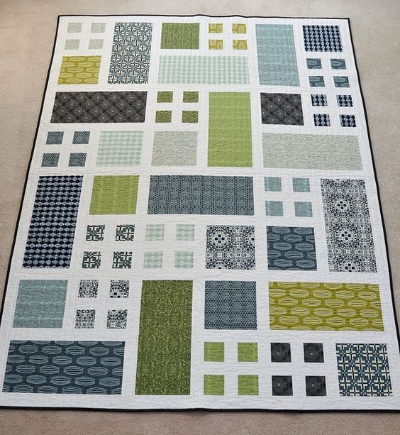 NOT the pattern, but we like the colors. Taking Turns quilt ... : easy modern quilt patterns free - Adamdwight.com